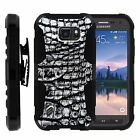 For Samsung Galaxy S6 Active Rugged Holster  Belt Clip Stand Case GRAY SCALES