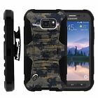 For Samsung Galaxy S6 Active Rugged Holster  Belt Clip Stand Case ANCIENT CAMO