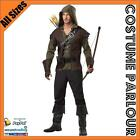 Mens Robin Hood Prince Of Thieves Peter Pan Fancy Dress Costume All Sizes