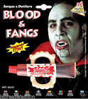 Halloween Fake Blood Tube With Fangs Fancy Dress Party Accessories
