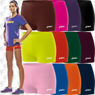 """NEW Asics Low Cut Womens Spandex Volleyball Shorts 2.5"""" Inseam BT752, 13 colors"""