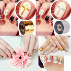 DIY Nail Art Tips Transfer Gold Silver 2 Roll Foil Nail Stickers Paper Universal