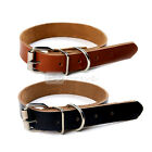 Cow Leather Dog Pet Cat Puppy Collar Neck Buckle Adjustable High Quality
