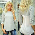 8-14 Hot Fashion Sexy Womens Casual Long Sleeve Loose T-Shirt Blouse Top Tee