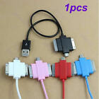 New 3 in 1 USB Charger Data Sync Cord Cable For Apple iPhone iPod Samsung HTC