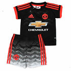 adidas Manchester United 2015/16 Kids Baby Third Kit Black