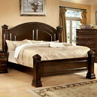 Burleigh Traditional Elegant Style Cherry Finish Bed Frame Set