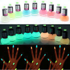 Candy Color Glow In The Dark Fluorescent Neon Luminous Nail Polish Paint Varnish