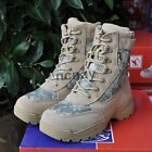 Camo Mens Desert Tactical Boots Military Tactical Hunting Combat Ankle Boots SZ