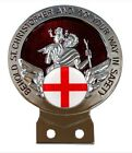 St George Flag St Christopher Car Badge +Tools Choice of 3 Colours