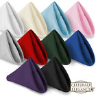 "1 Dozen 17"" Cloth Dinner Table Napkins - Multiple Fabric Colors"