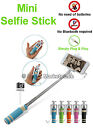 Mini Monopod Selfie Stick Wired Built In Button Remote Mobile Phone holder