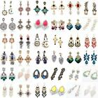Hot Elegant Women Vintage Style Fashion Rhinestone Dangle Stud Earrings 1 Pair