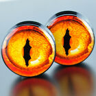 ear stretchers plugs - Pair Acrylic Ear Plugs Flesh Tunnels Stretchers Expanders Screw Dragon Snake Eye