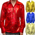 METALIC SHIRT 70'S 80'S FANCY DRESS MENS