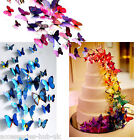 12 pcs 3D Butterflies Butterfly Wall Stickers Decal Art Decorations Decor Kids