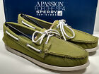SPERRY TOP SIDER AUTHENTIC ORIGINAL OLIVE SOFT CANVAS SUPER COMFY NEW IN BOX