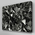 AB465 Abstract Grey Prisms Canvas Wall Art Ready to Hang Picture Print