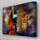 AB557 African Lady Stone Abstract Canvas Wall Art Ready to Hang Picture Print