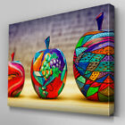 AB580 Painted Fruits Abstract Canvas Wall Art Ready to Hang Picture Print