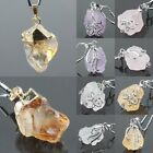Amethyst/Rock Quartz/Citrine Gemstone Crystal Freeform Healing Dowsing Pendant