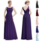 UK SEXY LADY SLEEVELESS PROM BALL PARTY DRESS FORMAL EVENING GOWN XS-XL