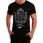 New Mens Training Crew neck DRI FIT Sport Tee Polyester Running Workout Gym Tee