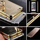 Aluminum Bumper Case Mirror Back Cover Skin for iPhone 6S 6S Plus 4.7 5.5 New