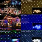 3M*2M  Fairy String Xmas Tree Net Mesh Curtain Ceiling Lights Outdoor Waterproof