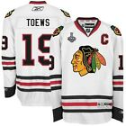 2015 Jonathan Toews Blackhawks Premier Away Jersey w Stanley Cup Patch Mens