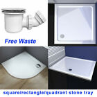 30mm Square rectangle shower stone tray for glass shower enclosure free waste