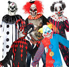 Scary Clowns Boys Fancy Dress Halloween Horror Joker Circus Kids Childs Costumes