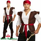 Mens PIRATE Fancy Dress Costume Caribbean Captain Jack Sparrow Stag outfit