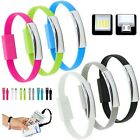 EMERGENCY USB DATA SYNC CHARGE CHARGER CABLE LEAD BRACELET FOR iPHONE SAMSUNG