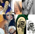 Sexy Skull Temporary Tattoo Stickers Removable Waterproof 1 Sheet New