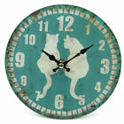 Glass Animal Print Design Large Wall Clock