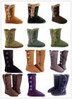 Women's Fur Mid-calf 4-buttons Faux Soft Snow Winter Boot Flat Shoes New