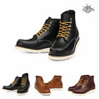 BHM6701 Real Leather Non-Safety Lace-Up Moc Toe Work Boot Mens Shoes Wedge Boots