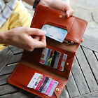 HIMORI Layered Pass Wallet - Trifold Flat Long Wallet with Multiple Card Slots