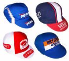 4 x CYCLING TEAM BIKE CAPS (Velo Revolution, Perin, Ospedaletti, Post)