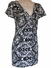 EX EVANS - BLACK/WHITE/BLUE/BEIGE ROUCHED TOP TUNIC DRESS - PLUS SIZE 14 - 30/32