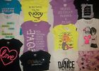 NEW JUSTICE GIRLS SIZE 7 8 10 12 14 16 T-SHIRT/TOP 13 STYLES PICK FAVORITE ONE