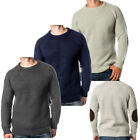 Brave Soul Cord Elbow Patch Cable Knitted Jumper  Mens Size