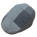 Hawkins Patchwork Check Country Outdoor Sports Golf Flat Cap Hat Three Colours
