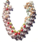 Chain Handmade USA Pearl Silver Gold Copper Wire Beads 10 COLORS, Sold Per FOOT