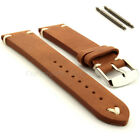Genuine Leather Vintage Style Watch Strap Band Blacksmith, Spring Bars, Buckle