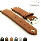 Genuine Leather Vintage Style Watch Strap Band Blacksmith Ss. Buckle Spring Bars
