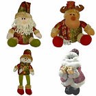 christmas decorations soft sitting moose and santa and sitting snowman