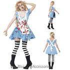 CL566 Zombie Malice Alice in Wonderland Fairytale Horror Scary Halloween Costume