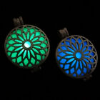 Flower Design Hollow Bronze Light In The Dark Pendant Necklace Jewelry Gift